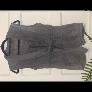 Max Jeans Tie Front Waterfall Vest sz M
